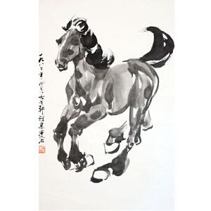 尹瘦石  马