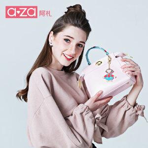aza阿札2017春夏新款女包 时尚可爱小清新个性手提斜挎小猫包6675