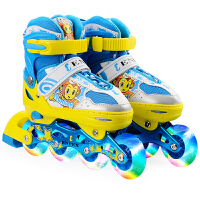 乐士正品溜冰鞋170儿童成人男女轮滑鞋全闪可调节直排溜冰鞋 可调节 炫酷闪光 正品保障