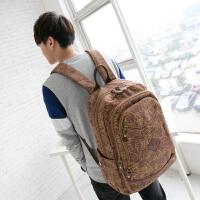 吉野帆布包新款男包包帆布双肩包韩版学院风男士背包高中大学生书包休闲旅行背包3991