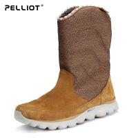 法国伯希和户外雪地靴 女防滑舒适加绒休闲鞋保暖透气高帮女靴