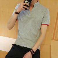 施衣品夏季新款男士POLO衫短袖韩版翻领T恤衫 大码男士休闲衬衫 纯棉修身时尚短袖上衣