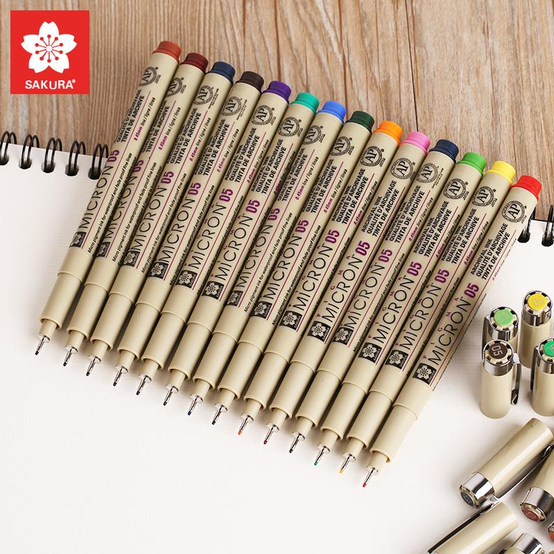 日本樱花 彩色针管笔 防水勾线笔漫画描边笔设计绘图手绘笔草图笔