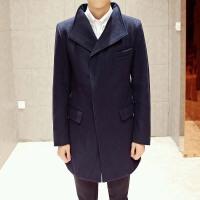 男装秋冬装羊毛呢大衣英伦男士中长款修身尼呢子大衣毛呢韩版外套男风衣羊毛商务外套 DJ1350