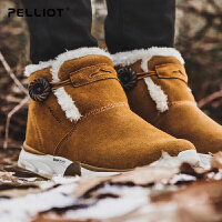 法国伯希和户外雪地靴 男女防滑耐磨加绒休闲鞋保暖徒步鞋男女靴