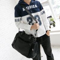 吉野新款韩版男士大包包休闲尼龙防水包手提包单肩包斜挎包学生书包百搭男女包包简约轻便旅行包8093