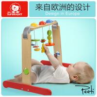 特宝儿婴儿玩具健身架 木制宝宝健身器新生儿0-1岁儿童早教益