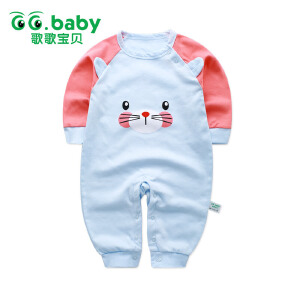 歌歌宝贝 女童纯棉哈衣长袖爬服春秋婴儿衣服外出服