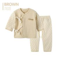 歌歌宝贝婴儿内衣套装和尚服 新生儿斜襟系带纯棉衣服 初生婴儿衣服