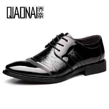 乔奈2016新款正装皮鞋男婚鞋时尚男士单鞋英伦品牌休闲男鞋潮鞋子