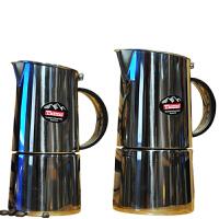 Tiamo 801不锈钢摩卡壶 意式家用煮咖啡壶4人份 HA2260