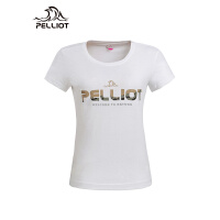 法国PELLIOT户外短袖T恤 男女夏季圆领透气运动快干衣情侣跑步T恤