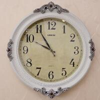 丽盛客厅挂钟欧式创意复古圆盘静音挂钟简约时尚个性石英钟表B8112