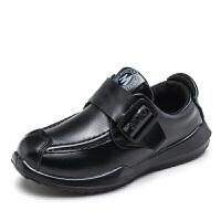 Hug Bear2017新款春秋季儿童单鞋男童休闲豆豆皮鞋表演黑色童皮鞋