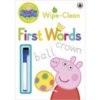 [现货]小猪佩奇 粉红猪小妹 英文原版 Peppa Pig Wipe-Clean First Words 刷刷笔 学单词 3-6岁宝宝 ladybird