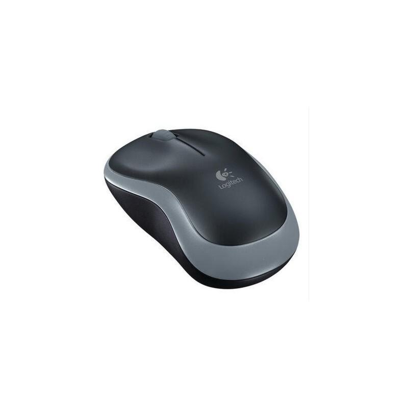 罗技m186无线鼠标 笔记本电脑办公游戏usb鼠标m185升级版无线鼠标