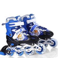 战甲溜冰鞋儿童全套装可调闪光直排轮滑鞋旱冰鞋滑冰鞋男女 购就送 护具六件套 头盔一顶