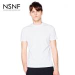 NSNF夜光LOGO运动打底白色短袖T恤 2017年春夏新款