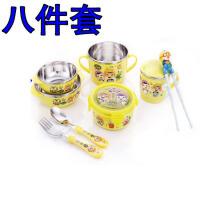 韩版儿童不锈钢餐具宝露露学习筷勺子宝宝训练筷子碗套装