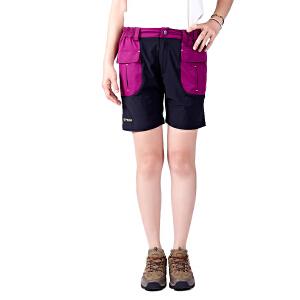 AIRTEX/亚特 弹力短裤 翻盖式口袋女款修身速干裤 英国时尚户外