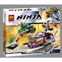 欢乐童年-乐高式 LEGO博乐 70722 幻影忍者 绿忍 攻击10220
