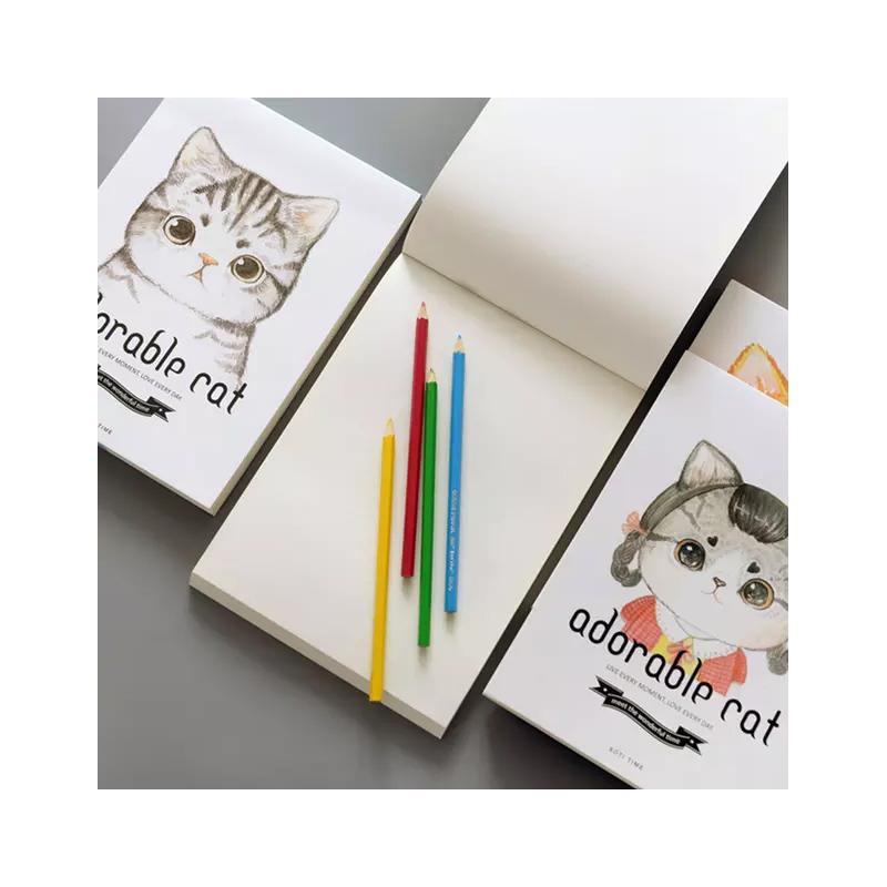 萌猫16k素描本手绘涂鸦本子80页绘画本空白速写本画画本 封面*