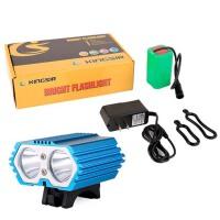 自行车灯   骑行装备 山地车前灯T6L2 充电夜头强光 单车配件