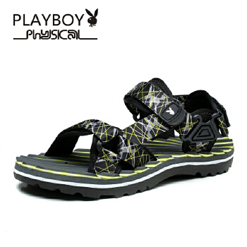花花公子 男士凉鞋男士沙滩鞋透气皮凉鞋英伦凉鞋男 PTCX39520