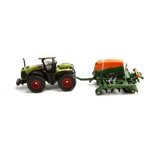 [当当自营]siku 德国仕高 1:87 拖拉机带亚马逊播种机 合金车模玩具 U1826