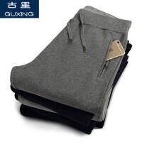 春季男士运动裤休闲纯色直筒卫裤跑步裤针织裤舒适透气运动长裤