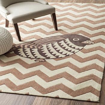 【乐唯仕地毯/地垫】欧式客厅沙发地毯几何形地毯