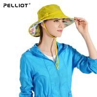 【618返场大促】法国PELLIOT户外防晒帽女 夏季沙滩帽骑行太阳帽透气遮阳帽户外帽