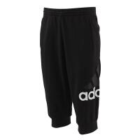 Adidas阿迪达斯男裤 2017夏季新款运动休闲透气小脚七分裤 BK3238/BK3264