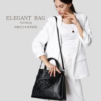 贝尔女士包包2016新款中青年包单肩手提包 女压花欧美牛皮女包大包
