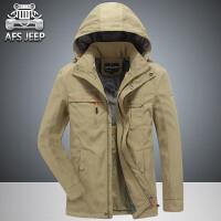 AFS JEEP冲锋速干夹克外套男装吉普休闲户外中长款夹克男上衣3131
