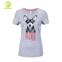 ADIDAS 阿迪达斯 短袖T恤 运动短袖女 W VIP DOG T S26494