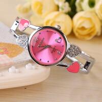 萌味 手表 创意韩版心型镂空新款钟表中学生时尚手链手镯表石英表防水糖果色女生表