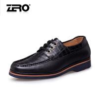 零度尚品 新款正装皮鞋头层牛皮鳄鱼纹潮流舒适减震功能男鞋F6555