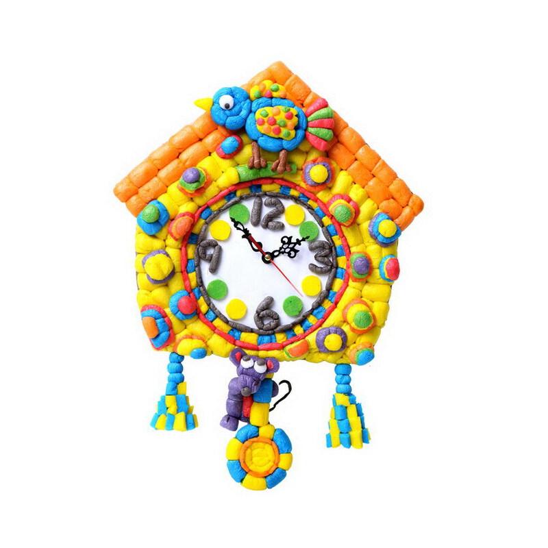 彩泥手工制作钟表
