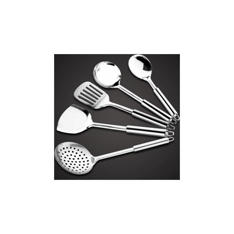 白领公社 铲子 不锈钢厨具七件套铲子勺子锅铲炒勺厨房用具套装家用