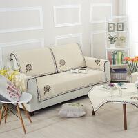 木儿家居 沙发垫布艺坐垫四季夏季沙发套罩飘窗垫防滑沙发巾橄榄树