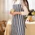 乐唯仕围裙棉帆布时尚韩版可爱厨房家居餐饮工作服围裙情侣围裙