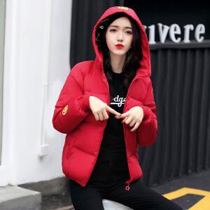 Freefeel2017秋冬新款棉服短款女装时尚韩版休闲羽绒棉服上衣