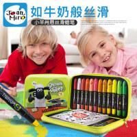 美乐 儿童蜡笔无毒可水洗 宝宝画笔旋转油画棒肖恩主题涂色涂鸦笔
