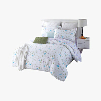 当当优品家纺 纯棉斜纹印花床品 双人床单四件套 女人花