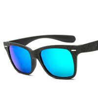 2016时尚太阳镜931弹性方框米钉墨镜 潮牌猿人头反光彩膜太阳眼镜