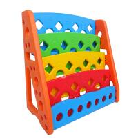 麦宝创玩 儿童玩具托儿所书柜 儿童乐园幼儿园塑料单面书架 收拾收纳架 卡通彩色书柜宝宝书橱
