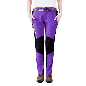 AIRTEX/亚特 快干排汗 拼色弹力速干长裤女款 英国时尚户外