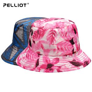 【618返场大促】法国PELLIOT户外防晒帽男女 夏季沙滩帽太阳帽透气遮阳帽户外帽子
