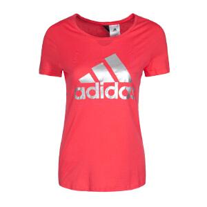 Adidas阿迪达斯 2017夏季新款女子运动休闲圆领短袖上衣 BP8398/BP8396/BP8400